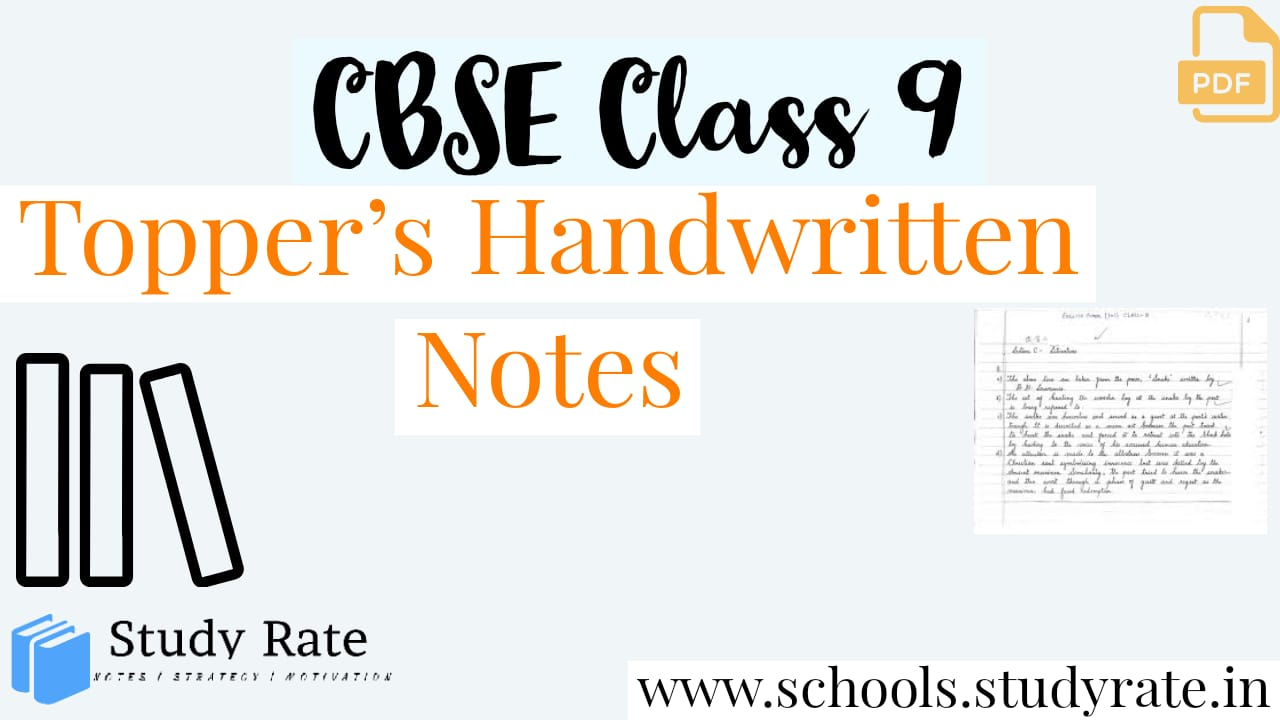 You are currently viewing Class 9 CBSE Science Handwritten Notes by Topper's: Download PDF FREE